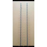 Стойка для очков К16  с замком (В. :131 см. ширина 6 см, 16 ед.)