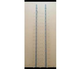 Стойка для очков К16  без замка (В. :131 см. ширина 6 см, 16 ед.)