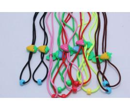 Шнурки-резинки детские (клубника) (12 штук)
