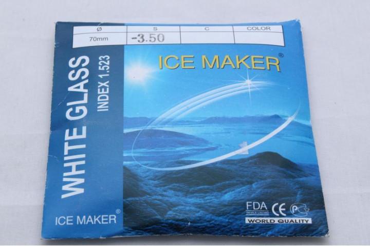 Линзы  WHITE GLASS (ICE MAKER) ДИАМ.70мм. 1,523 (стекло)