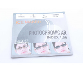 Линзы ICE MAKER PHOTOCHROMIC 1.56 (хамелион серый) плюс