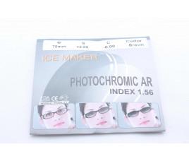 Линзы ICE MAKER PHOTOCHROMIC 1.56 (хамелион коричн.) плюс